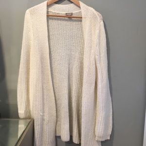White cardigan from Chico's